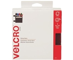 "Velcro 90085, Red, 3/4"" x 15' FT Roll, Sticky Back Hook and Loop Fastener Tape with Dispenser"