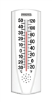 "Springfield Precision, 90110, Indoor - Outdoor Vertical Thermometer, 6-3/4"" x 2-1/4"", F and C"