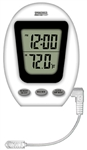 Taylor, 90173-1, Dual View Digital Thermometer With Clock Indoor Outdoor