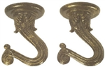 Satco, 90451, Antique Brass, Double Swag Hook Kit, Lamp Hooks, Ceiling & Wall Set