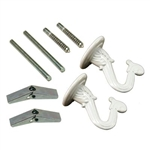 Satco, 90770, White, Double Swag Hook Kit, Lamp Hooks, Ceiling & Wall Set