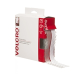 "Velcro, 91325, Clear, 3/4"" x 15' FT Roll, Sticky Back Hook and Loop Fastener Tape with Dispenser"