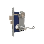 Marks, 9215AC/26D-W-RHR, Satin Chrome, Right Hand, Ornamental Unilock Lever Plate Mortise Entry Lockset Iron Gate Door Double Cylinder Lock Set