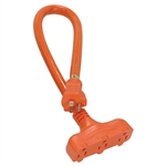 Satco, 93-5030, 2', 12/3 STW, Orange 3 Outlet Extension Cord, Outdoor