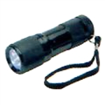 Tuff Stuff 96080 9 LED Travel Aluminum Flashlight With 3-AAA Batteries 1 ASSORTED COLOR PER ORDER (Red, Blue, Or Black)