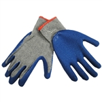 Tuff Stuff, 9630L, Large, Heavy Cotton Work Glove With Blue Latex Rubber Coated