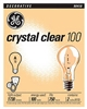 GE, 97489, 39321, 100 Watt 2-Pack Crystal Clear Light Bulbs
