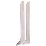 "Aqua Plumb, 98822, 2 Per Pack, White, Shower 9-1/2"" x 44"" Maxi Large Splash Guard"
