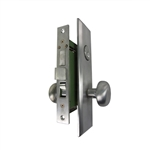 Gotham (Marks 114A/26D Like) 9900RAKSC Right Hand Heavy Duty Satin Chrome 26D Mortise Entry Lockset, Screwless Knobs Thru Bolted, Lock Set