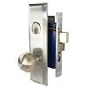 Marks New Yorker 9NY10A/26D, Left Hand Satin Chrome Mortise Entry Lock Set, Screwless Knobs Thru-Bolted Lockset