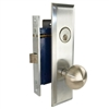 Marks New Yorker 9NY10DW/26D, Right Hand Satin Chrome Mortise Lock Knob Vestibule Function Always Locked Storeroom Latch Only Lockset, Screwless Knobs Thru Bolted Lock Set