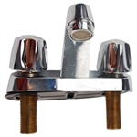 "Durst A231 Chrome Plated Two Handle Compression 4"" Lavatory Faucet"