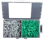 "Starborn, ANK14, 50 Pack #14 - 16 Anchors, Screws 12 x 1-1/2"" Phillips, Plastic Ribbed Anchor Kit"