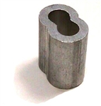 "Fehr, ASL093, 3/32"" Aluminum Ferrules, Aluminum Swage Sleeve, For Aircraft Cable, 100 Pieces"