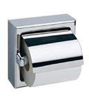 Bobrick, B-6699, Surface-Mounted Toilet Tissue Paper Dispenser, With Hood, Stainless Steel