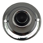 Lee Electrical, BC200C, Polished Chrome, Wired Classic One Gang Family Unlighted Black Push Buttons For Bells