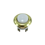 "Lee Electric 205LB Gold Brass 5/8"" Lighted Pearl Wired Insert Flush Ring With White Push Button For Bell"