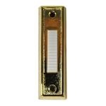 Lee BC266B Gold Finish Wired Push Button With Unlighted White Center Button