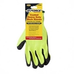 G-FORCE CONTRACTOR TOUGH BG-325 Black Coated Hi-Visibilty Knit Work Gloves Heavy Duty.
