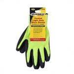 G-FORCE CONTRACTOR TOUGH BG-350 Black Coated Hi-Visibilty Knit Work Gloves Light Duty Weight.