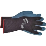 Boss 8439M Medium Blue Frosty Grip Latex Coated Palm Glove Utility Glove