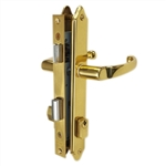 "Wright VT057JR1US3 VFA1-003 Polished Brass US3 Finish Single Cylinder Narrow Style Vermont Junior Mortise Lock Set BACKSET 7/8"" FACE PLATE 7-1/2"" X 3/4"""