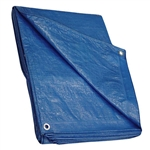 Tuff Stuff BPT0608 Blue 6' x 8' All Purpose Poly Tarp