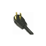 Bright Way, BWDAC4-5, 5', 10/4 SRDT, 4 Conductor Black Round Dryer Cord, Right Angle Male Plug, 30A Extension Cord