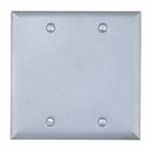 BWF 722 Gray Weatherproof 2 Gang Blank Cover Outlet Box Cover