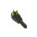 Bright Way, BWRAC4-4, 4', 6/2 & 8/2 SRDT, 4 Conductor Black Round Range Cord, Right Angle Male Plug, 50A Extension Cord