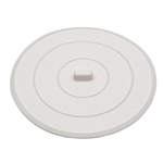 "Aqua Plumb, C0490, 4-1/2"", White, Rubber, Flat Suction Tub Sink Stopper"