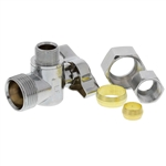 "Aqua Plumb C3716 1/4"" Turn Ball Angle Valve With 5/8"" Compression To Connector 3/8"" Compression"