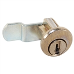 CompX C8710 Bright Nickel US14 Mailbox Lock With Clip Replaces Bommer Style Locks