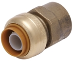 "PipeBite, CC10005, 1/2"" x 1/2"" Female Iron Pipe, Lead Free Connector, (Sharkbite Like) Push Fit Fittings For Use With Copper Tubing CTS, CPVC & Pex With Integral Tube Liner Included"