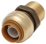"PipeBite, CC10010, 1/2"" x 1/2"" Male Iron Pipe, Lead Free, Straight Connector, Sharkbite Push Fit Fittings For Use With Copper Tubing CTS, CPVC & Pex With Integral Tube Liner Included"