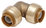 "PipeBite, CC10015, 1/2"" x 1/2"", Lead Free, Elbow, (Sharkbite Like) Push Fit Fittings For Use With Copper Tubing CTS, CPVC & Pex With Integral Tube Liner Included"