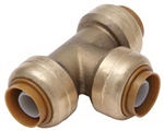 "PipeBite, CC10025, 1/2"" x 1/2"" x 1/2"", Lead Free Tee, (Sharkbite Like) Push Fit Fittings For Use With Copper Tubing CTS, CPVC & Pex With Integral Tube Liner Included"
