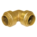 "PipeBite, CC10055, 3/4"" x 3/4"", Lead Free Elbow, (Sharkbite Like) Push Fit Fittings For Use With Copper Tubing CTS, CPVC & Pex With Integral Tube Liner Included"