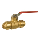 "PipeBite, CC10090, 3/4"", Lead Free, Ball Valve, (Sharkbite Like) Push Fit Fittings For Use With Copper Tubing CTS, CPVC & Pex With Integral Tube Liner Included"