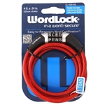 Wordlock CL-455-RD Red 6mm x 4' FT 4 Dial Combination Cable Lock