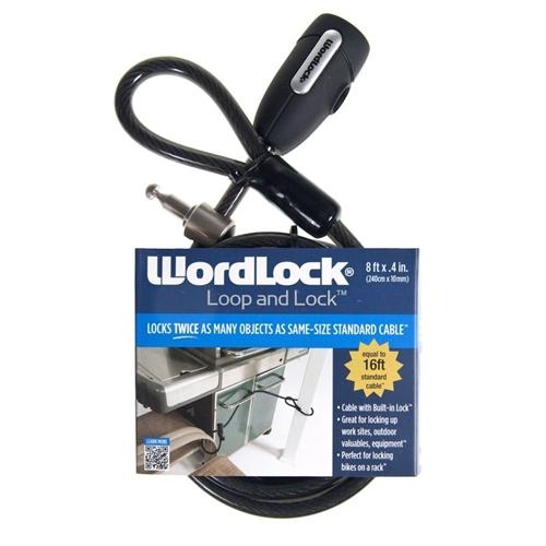 Wordlock Loop And Lock Key Cl 601 Bk Black 8ft X 4 Inch