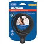 Wordlock CL-661-BK Black 8mm x 5' FT Combination Quick Release Cable Lock Resettable