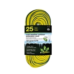 Go Green Power GG-17725 16/3 25' SJEOW Cold Weather Extension Cord, Yellow - UL Approved