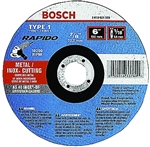 "Bosch CW1M450 4-1/2 x 3/32"" x 7/8 Grinding Wheel Type 1 Thin Cutting Disc A24R-BF for Metal"