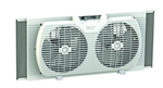 "Comfort Zone, CZ319WT, White, 9"" Portable Twin Window Fan, Designed To Fit Into Most Double Hung & Slider Windows"
