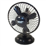 "Comfort Zone CZ5USBBK Black 5"" Mini Oscillating Desk Fan Powered By USB or 4 x AA Batteries, Dual Powered"