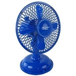 "Comfort Zone CZ5USBBL Blue 5"" Mini Oscillating Desk Fan Powered By USB or 4 x AA Batteries, Dual Powered"