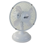 "Comfort Zone CZ5USBWT White 5"" Mini Oscillating Desk Fan Powered By USB or 4 x AA Batteries, Dual Powered"