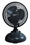 "Comfort Zone, CZ6XMBK, 1 Fan 6"", Black, 2 in 1 Clip on or Desk Style Fan"