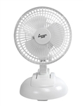"Comfort Zone, CZ6XMWT, 1 Fan 6"", White, 2 in 1 Clip on or Desk Style Fan"